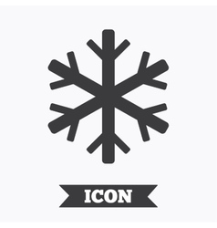 Air conditioning sign icon snowflake symbol vector
