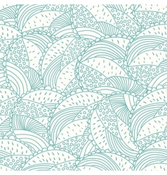 Abstract doodle floral seamless pattern vector