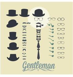 Accessories for gentleman vector