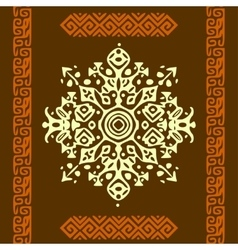 African style circle ornament or mandala vector