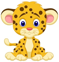 Baby leopard cartoon vector image vector image