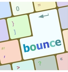 Bounce button on computer pc keyboard key vector