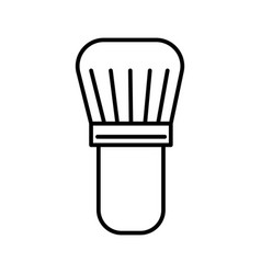 brush for shaving line icon sign vector image