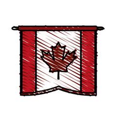 Canadian cartoon flat scribble vector
