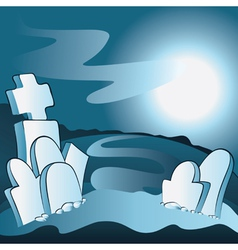 Cartoon cemetery vector image