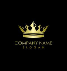 Crown logo black background vector