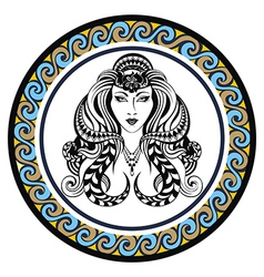 Decorative Zodiac sign Virgo vector image