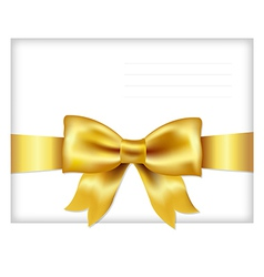 Envelope Face With Golden Bow vector image