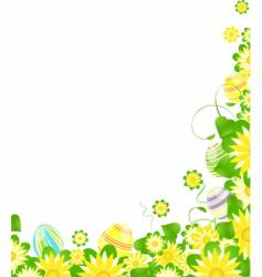 floral Easter border vector image vector image