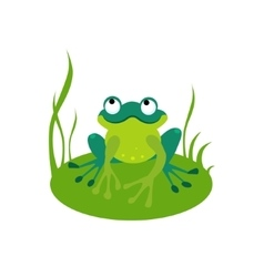 Green Cartoon Frog vector image vector image