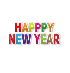 Happy new year text background vector