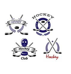 Hockey Club and team emblems vector image vector image