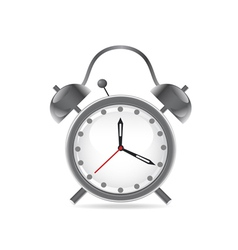 isolated alarm clock on white background vector image vector image