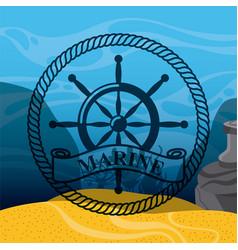 Marine and sea life design vector