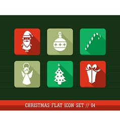 Merry christmas colorful web app flat icons set vector