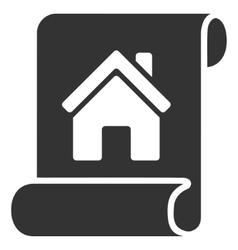 Realty description roll flat icon vector
