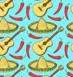 Sketch Mexican set in vintage style vector image vector image