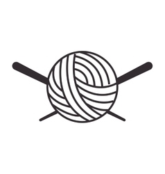 Thread ball and needle icon vector