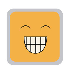 square colorful shape emoticon face happines vector image