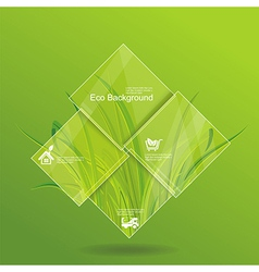 Environment concept grass behind the glass vector