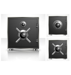 Metal square safe vector image