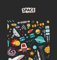 Cards of space vector