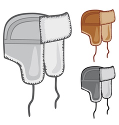 russian fur hat vector image