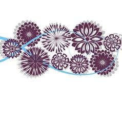 flower spring or summer floral pattern vector image