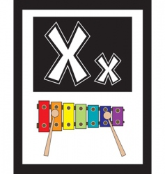 flash card x vector image