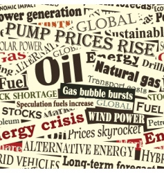 Energy headlines vector