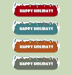 Happy holidays sign vector