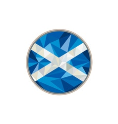Scotland flag icon circle low polygon vector