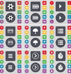 Ball battery media play credit card tree list apps vector