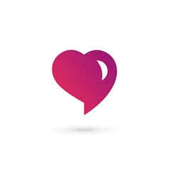 Heart symbol speech bubble logo icon design vector