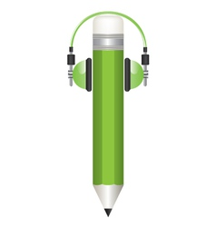 Pencil and headphones s vector