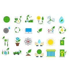 Eco isolated icons set vector