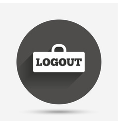 Logout sign icon log out symbol lock vector