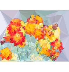 Abstract vivid color polygonal background from vector image