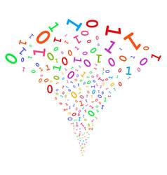 Binary digits fountain stream vector