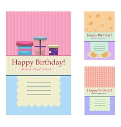 Birthday greeting cards vector image