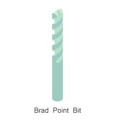 Brad point bit icon isometric 3d style vector