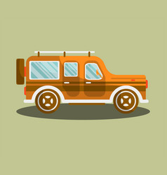 camper bus or camping van flat isolated vector image