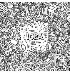 cartoon hand-drawn doodles concept vector image vector image