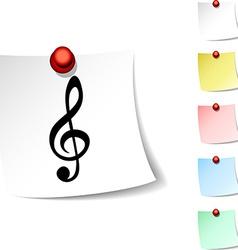 Clef icon vector image