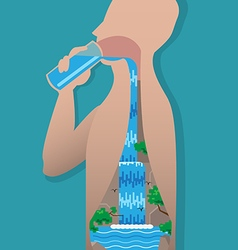 Drinking water vector