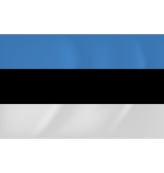 Estonia waving flag vector