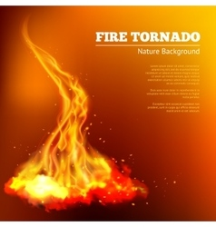 Fire Tornado vector image