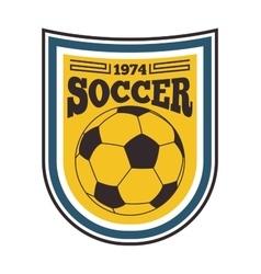 Football sign badge vector image vector image