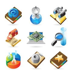 Icon concepts for technology vector image vector image