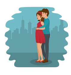 man hugging woman design vector image